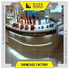Nail beauty kiosk design,perfume glass display stand,shop counter design