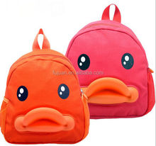 Fashion cute cartoon duck childrens kids picture of school bag