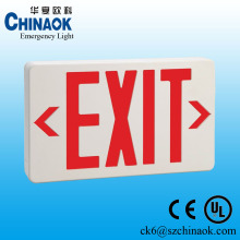 wall mounted battery backup led emergency illuminated exit signs
