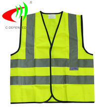 2017 safety reflecting vest yellow jacket with 3M tape