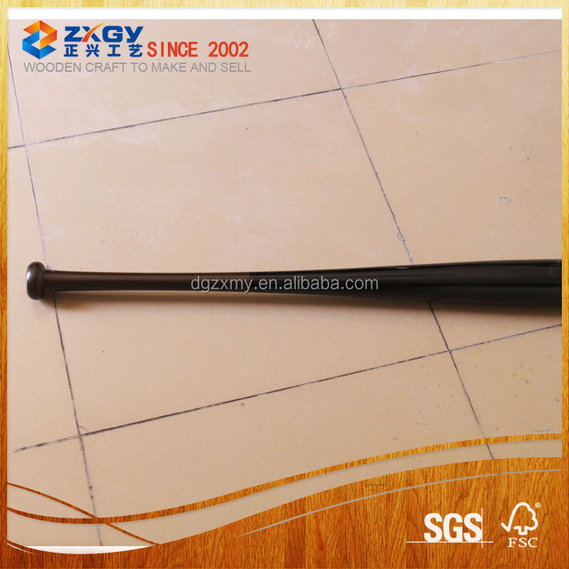 Black wooden baseball bat