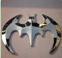 bat man enamal logo car emblem/car badge with 3mm adhesive