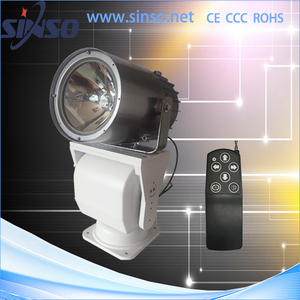 360 degree rotating IP65 remote control marine hid searchlight 24V