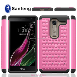2 in 1 combo diamond cover for Lg optimus class H740 cell phone case with high quality