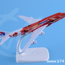 handmade aircrafts and promotion gifts manufacturer boeing 747 Malaysia red flower