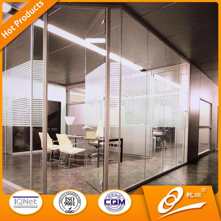soundproof tempered office partition glass wall for room decoration