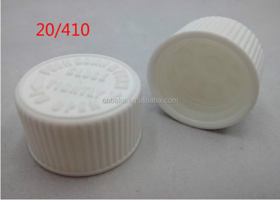 18mm neck plastic child resistant cap, childproof lid, 18 neck CRC plastic screw cap