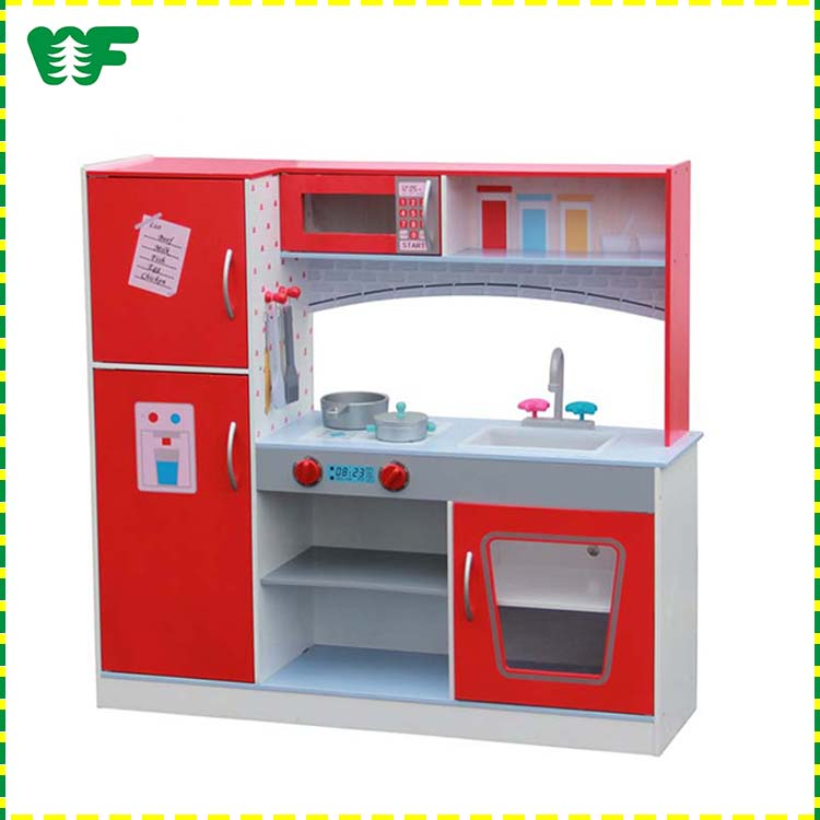 Hot new high quality cheap mini wooden toy kitchen play set