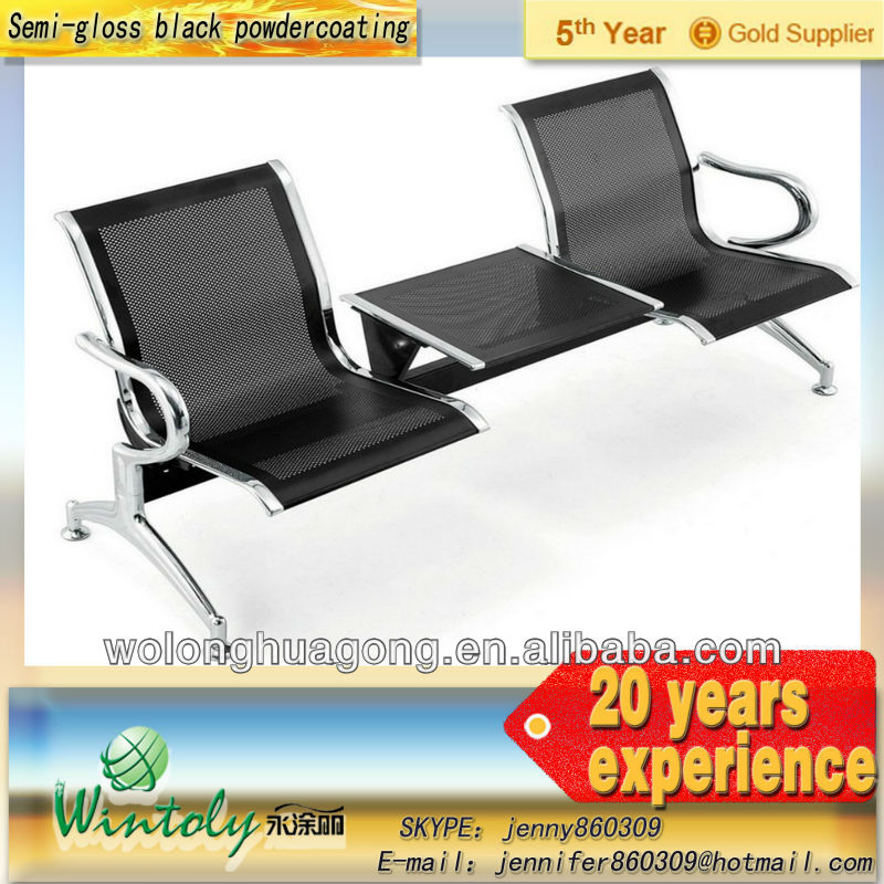 Airport waiting chair with electrostatic powder coating