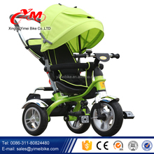 360 degree rotating seat 4 in 1 kids tricycle / Air tire tricycle for children / landscape baby trolley children tricycle seats