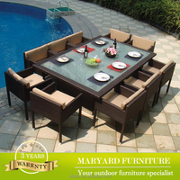 patio wicker dining set tempered glass dining table and chair set