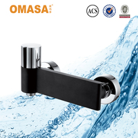Latest unique design chrome and matte black finish bathroom shower faucet