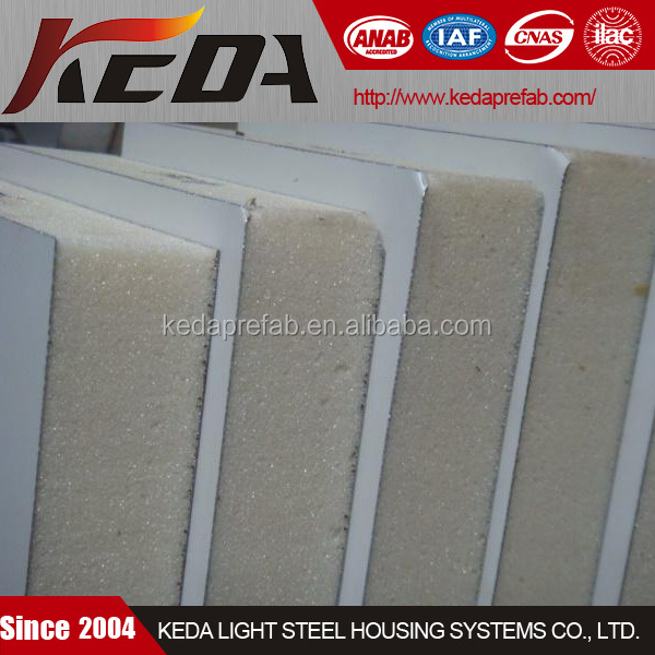China Rigid Polyurethane Foam Sandwich Panel Insulated With PU or PUR or PIR