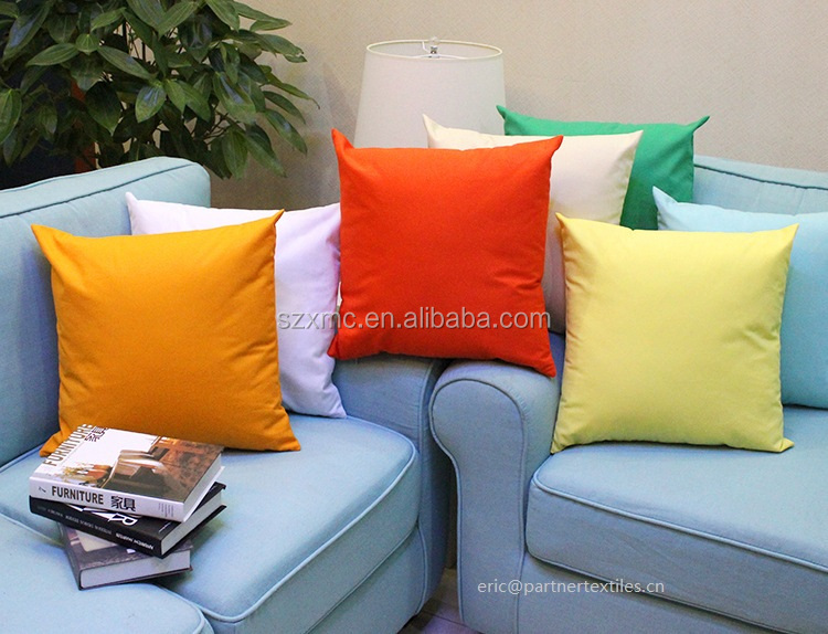 100% plain dyed cotton canvas blank throw pillow cover