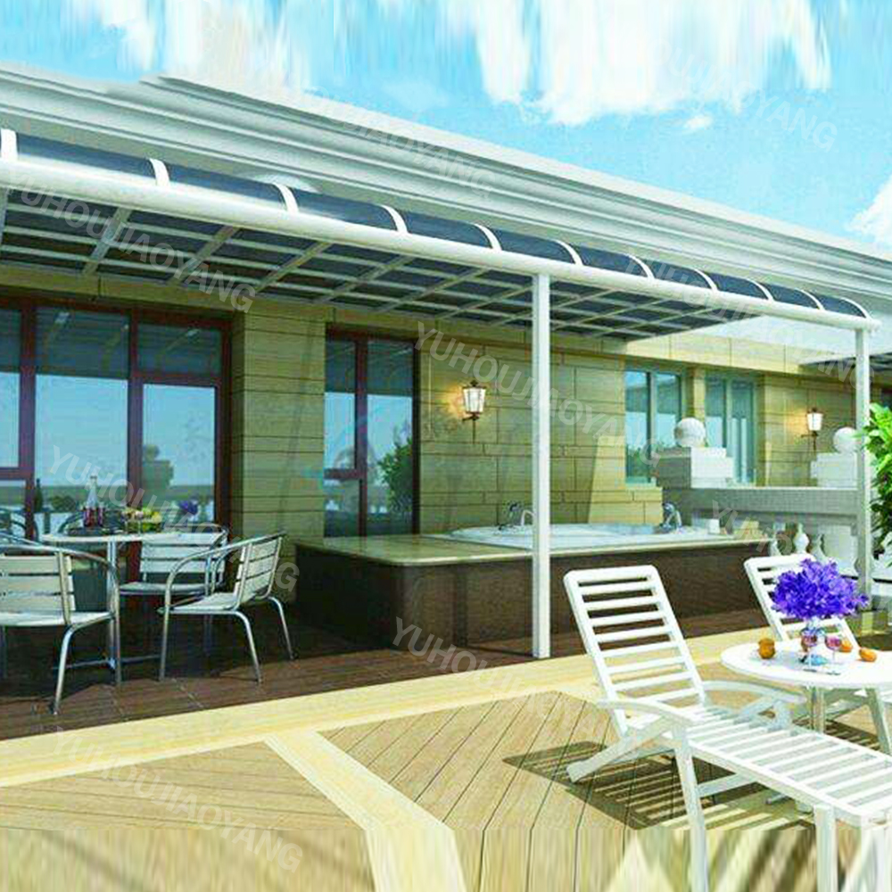Sun Awning polycarbonate pc aluminum canopy door awning for balcony sunshade