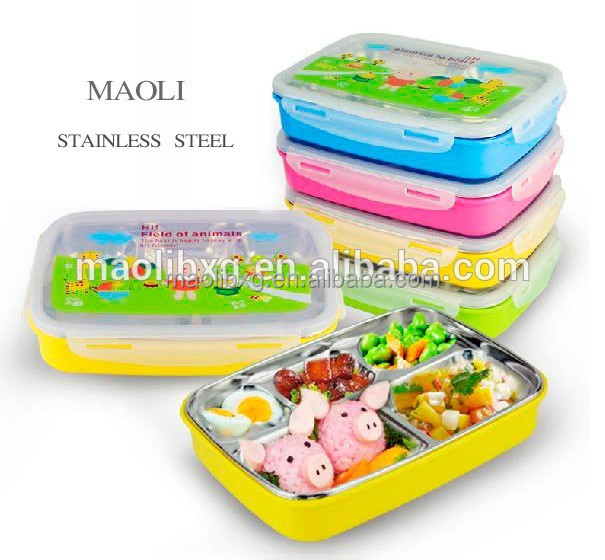 Promotional gift stainless steel plastic insulated food container/thermos lunch box