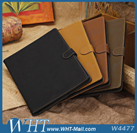 Brushed PU Leather Case for iPad 5 with Stand, for iPad Air Case, for Apple iPad Case