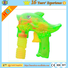 customized friction LED fish soap bubble gun toys