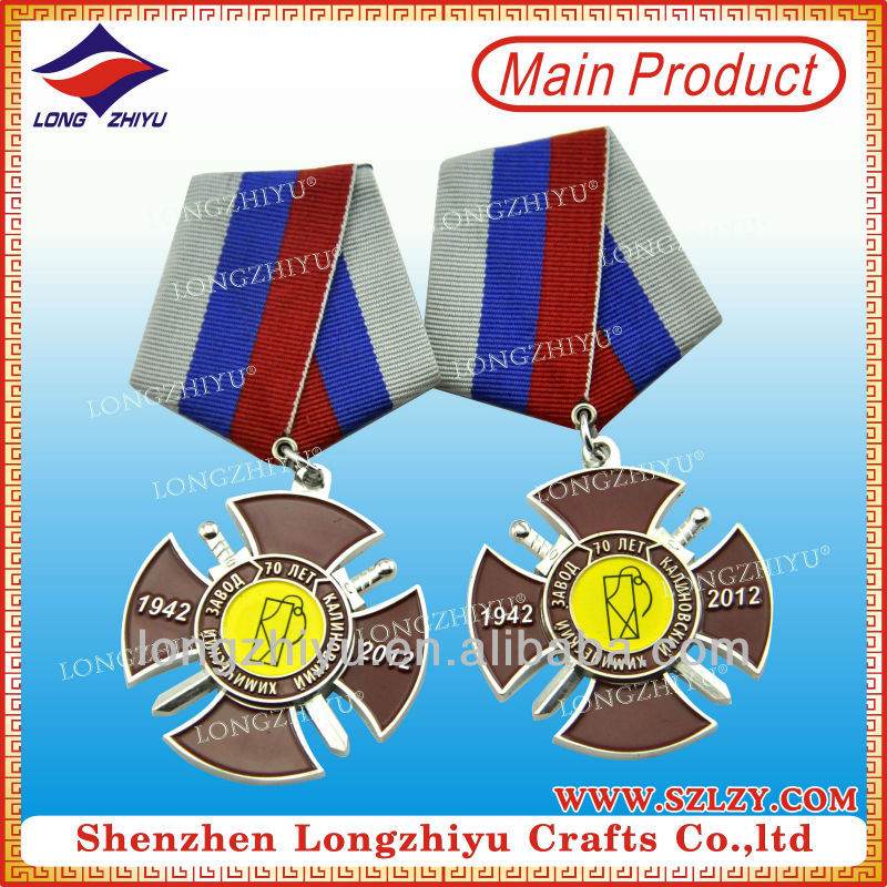Custom infantry marshal military regalia badge medal
