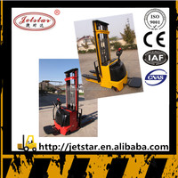 3m Cargo handling small electric pallet stacker fork lift