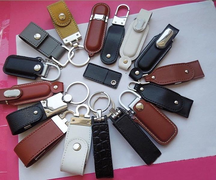 Leather usb key with free logo 8GB 16GB 32GB