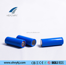 Headway li ion battery 22650 2.5Ah 3.7v for recharging lamps