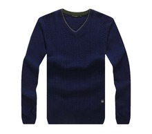 wholesale Knit Sweater Cashmere/wool v-neck Sweater Mens