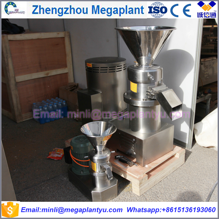 Stainless steel commercial pepper chili tomato sauce making processing machine / peanut butter machine