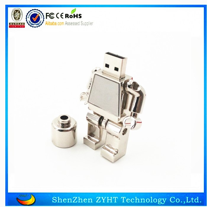 Professional Manufacturer Brilliant Quality White robot Type Usb Flash Drive