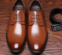 S10536A 2015 New style Men's Leather Dress shoes