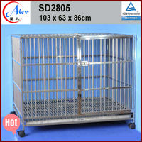 Fashion design galvanized steel dog kennel