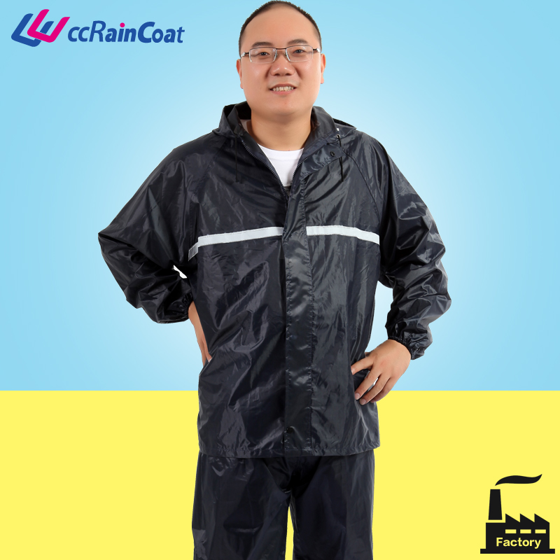 Reusable Motorcycle Poncho Rain Jacket Rain Suit for Promotion