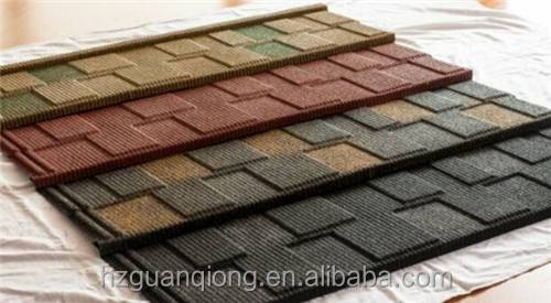 hot sale mixed color stone coated roof tile
