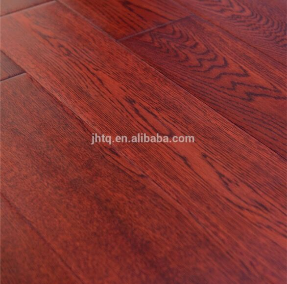 Red Color <strong>Oak</strong> Multilayer Engineered Wood Flooring <strong>Antique</strong> Surface 760#
