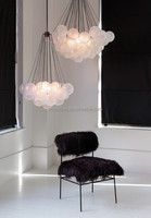 Frosted White Ball 37 Lights Modern Chandelier for Hospitality Decorative Project Lighting