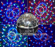 Wholesale 6-color Auto voice-contrl crystal magic ball with DMX, dj, club, ktv stage lighting, family party decorative lighting