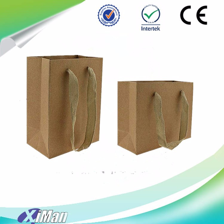 New products retro kraft paper carrier bags gift package