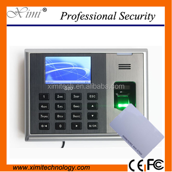 S30 Fingerprint time attendance machine with ID or IC card reader fingerprint recorgnition optical sensor biometric time clock