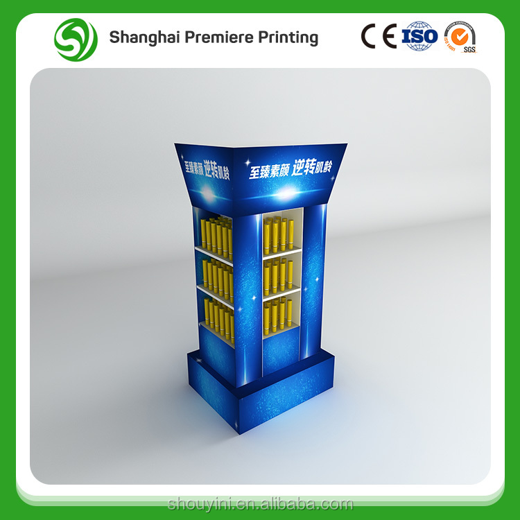 Customized shape Vacumm cups paper material display floor stand