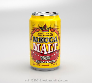 MECCA MALT Premium Dark Malt Beverage Non-alcoholic canned 24x33cl