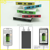 Real capacity flat mobile charger 5000mah Power bank for cell phone