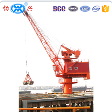 hot selling 40t-30m marine harbour application pedestal stationary fixed portal crane