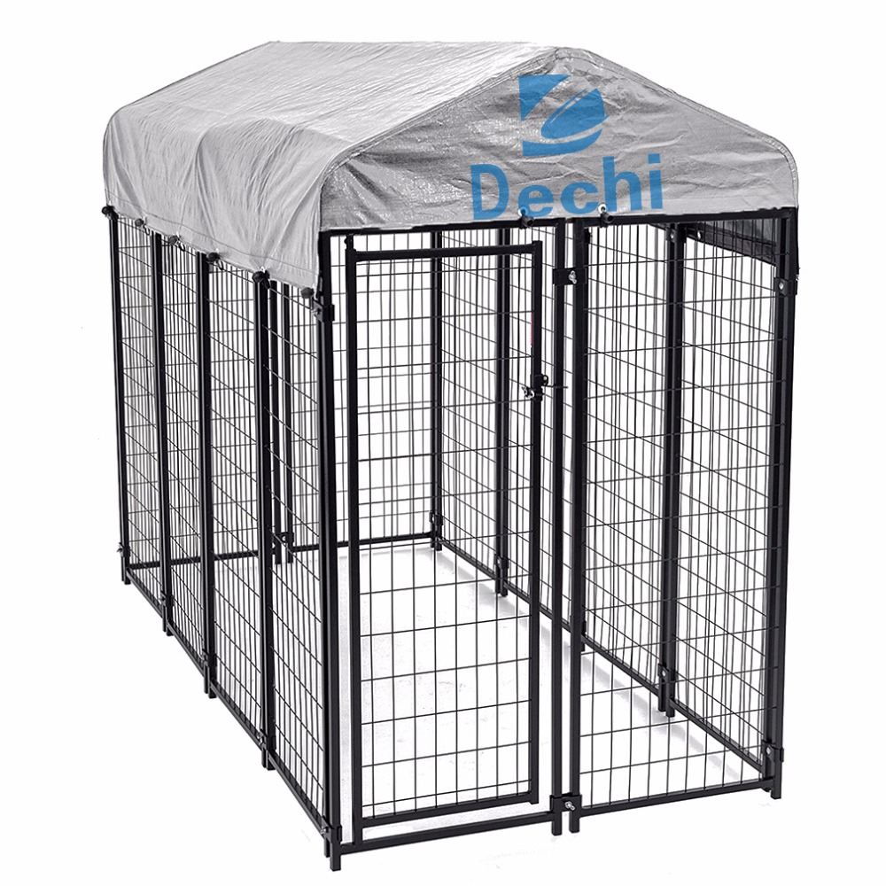 8'x4'x6' OutDoor Heavy Duty Playpen Dog Kennel house w/ Roof Water-Resistant Cover