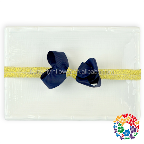 Cheap toddler baby photo props little girl navy headbands cute baby hair accessories