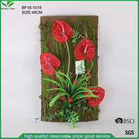 Wall hanging decorative flower artificial red anthurium