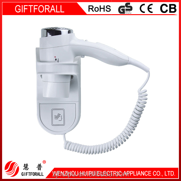 wall hanging plastic electrical hair dryer