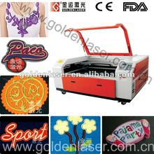Auto Recognition CO2 Laser Cutter Applique,Embroidery,Label