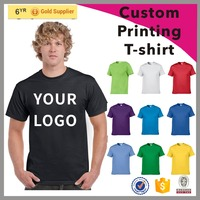 2017 hot sale cheap cotton mens round neck custom printing t-shirt