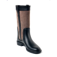 TONGPU fashion combat rain boots ladies pvc rain boots women shoes