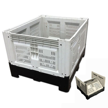 Large Vented collapsible apple vegetable container bins hot foldable plastic pallet box
